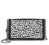 Stella McCartney Small Fallabella Crystal Faux Leather Crossbody Bag - Black