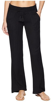 Roxy Oceanside Pant Dobby (Anthracite) Women's Casual Pants