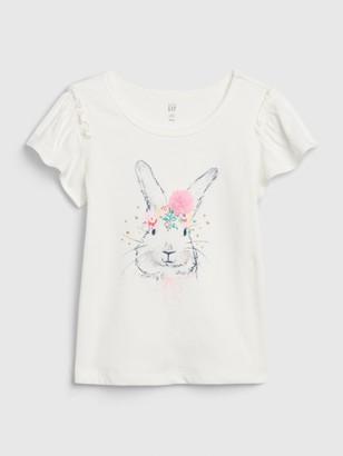Gap Toddler Bunny Graphic Flutter T-Shirt