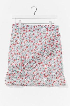 Nasty Gal Womens Bud You Mind Floral Mini Skirt - White - 6