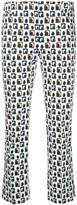 Incotex patterned cropped trousers