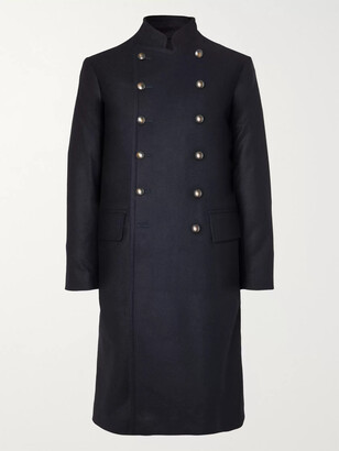 Kingsman Shola Slim-Fit Wool And Alpaca-Blend Coat