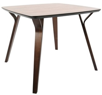 Lumisource Folia Mid-Century Modern Dining Table in Walnut by