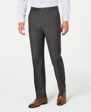 Alfani Red Men's Slim-Fit Performance Stretch Gray Mini Check Suit Separate Pants, Created for Macy's
