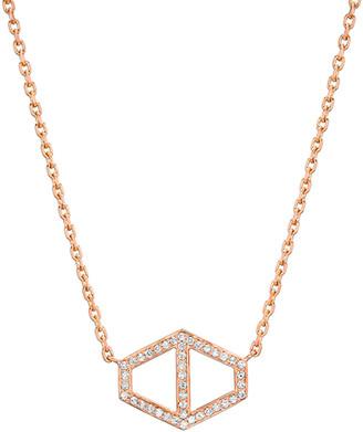 Rosegold Walters Faith Keynes Signature 18k Rose-Gold and Diamond Hexagon Neckl