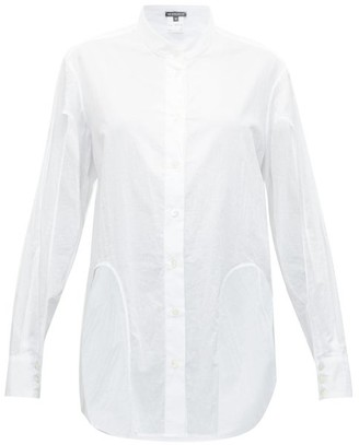 Ann Demeulemeester Cutout Poplin Shirt - Womens - White