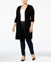 INC International Concepts Plus Size Ribbed Maxi Cardigan, Only at Macy's