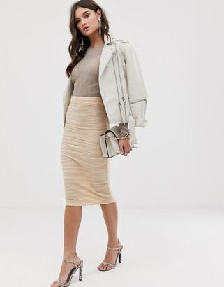 Asos DESIGN textured jacquard pencil skirt
