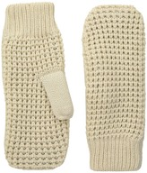 Hat Attack Waffle Knit Plush Mitten Extreme Cold Weather Gloves