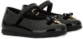 Dolce & Gabbana Kids Heart Charm Ballerina Shoes