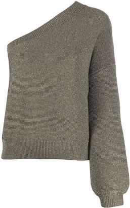 Liu Jo One Shoulder Knitted Top