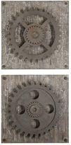 Uttermost Rustic Gear 2-piece Wall Art Set