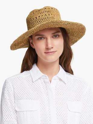 John Lewis & Partners Adjustable Belt Trim Floppy Sun Hat, Natural