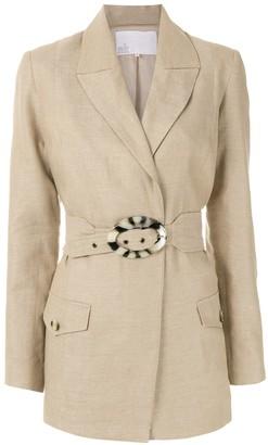 Nk Belted Linen Blazer
