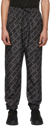 Fendi Black Stripe Karligraphy Track Pants