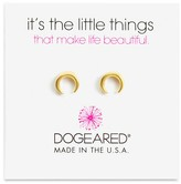 Dogeared Crescent Stud Earrings