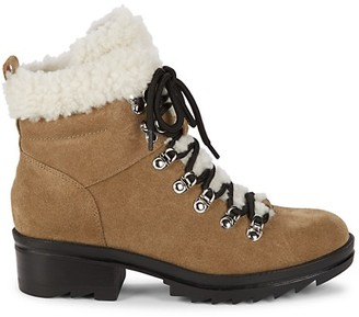 Marc Fisher Suede Shearling Boots