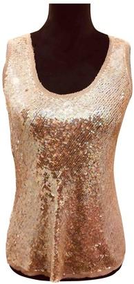 Donna Karan Gold Glitter Top for Women