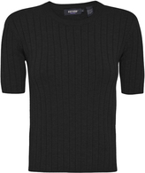Oxford Ivy Short Sleeve Knit Black X