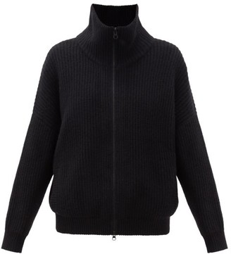 Lisa Yang - Mela Zipped Ribbed-cashmere Cardigan - Black