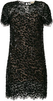 MICHAEL Michael Kors leopard sequined lace dress