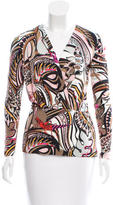 Emilio Pucci Printed V-Neck Blouse w/ Tags