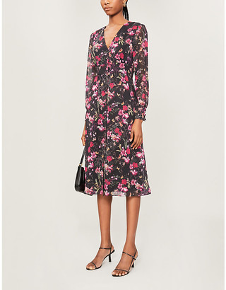 Ted Baker Adriela Fern Forest deep V midi dress