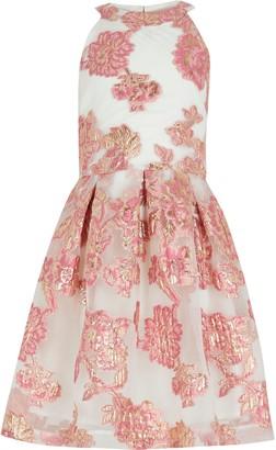 River Island Girls Pink organza prom dress