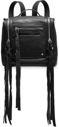 McQ Loveless Mini Convertible Textured-leather Backpack