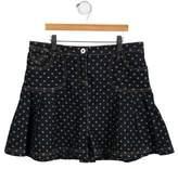 Dolce & Gabbana Girls' Denim Polka Dot Skirt