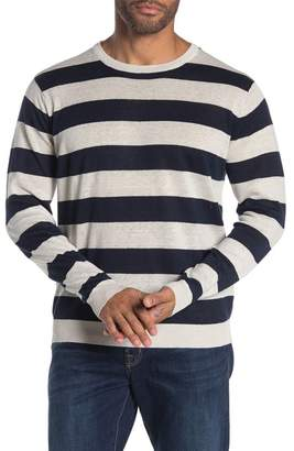 Tailor Vintage Rugby Stripe Crew Neck Sweater