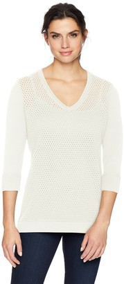 Foxcroft Women's Presley Open Stitch Sweater