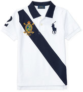 Ralph Lauren Cotton Mesh Sash Polo Shirt, White, Size 5-7