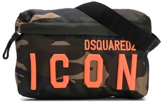 DSQUARED2 ICON camouflage-print messenger bag