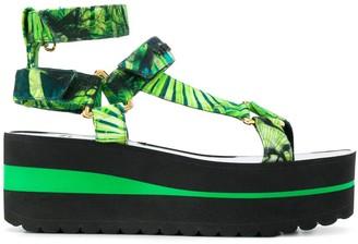 Versace Two-Tone Platform Sandals