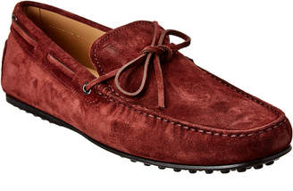 Tod's City Gommino Suede Moccasin
