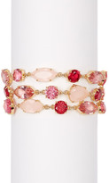 Carolee Triple Stone Row Bracelet