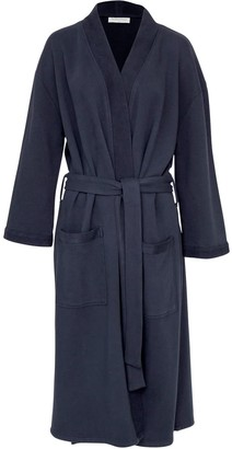 Wallace Cotton Nadine Organic Cotton Robe Navy