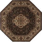 "Nourison MANUFACTURER'S Area Rug, Persian Arts BD02 Chocolate 7' 9"" Octagon"