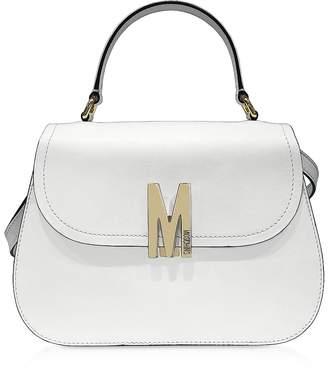 Moschino Smooth Leather Top-Handle Satchel Bag