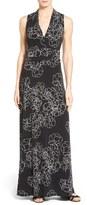 Vince Camuto Petite Women's Floral Print Jersey Maxi Dress