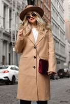 Forever 21 Faux Fur Trimmed Coat