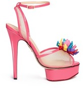 Charlotte Olympia x Barbie® 'Pomeline' shoe pompom leather pumps