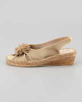 Andre Assous Dion Silk Espadrille Wedge, Beige