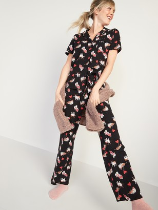 Old Navy Printed Jersey-Knit Pajama Top & Pajama Pants Set for Women