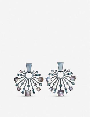 Kendra Scott Fabia gunmetal-plated earrings
