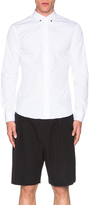 Givenchy Silver Star Contrast Collar Shirt