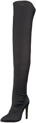 The Fix Amazon Brand Women's Mia Pointed-Toe Thigh-High Sock Boot