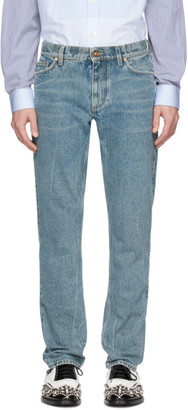 Burberry SSENSE Exclusive Blue Straight Jeans