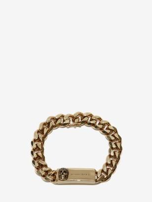 Alexander McQueen Chain and Skull Bracelet